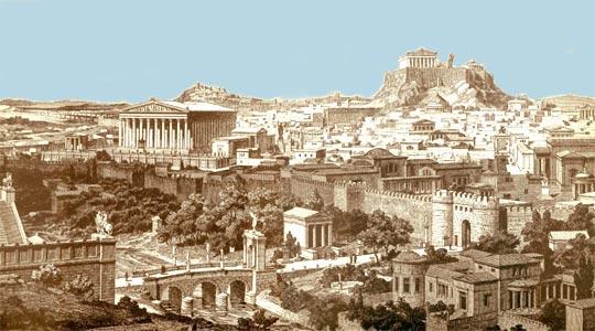 Athenas City Athena Gave The City an Olive
